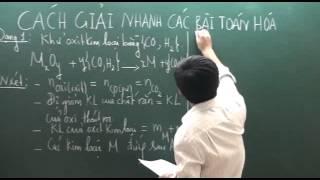 Cách giải nhanh bài tập toán Hóa học P1