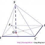 Cách xác định đường cao của hình chóp thường gặp