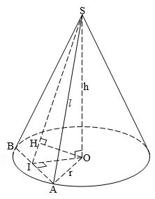 Hình nón tròn xoay – Bài 3 trang 39 sách giáo khoa hình học lớp 12
