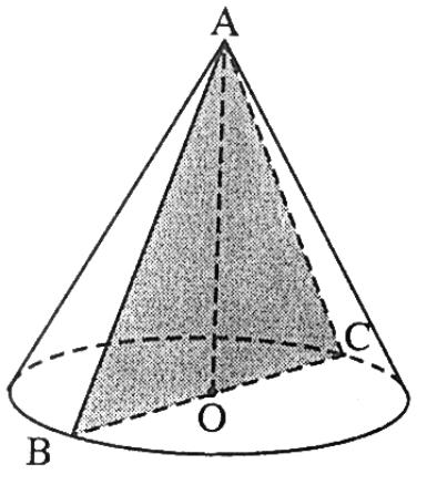 Thiết diện hình nón tròn xoay – Bài 6 trang 39 sách giáo khoa hình học lớp 12