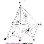 Bài tập trắc nghiệm, hình cầu ngoại tiếp hình chóp có mặt bên vuông góc đáy,