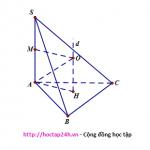Bài tập trắc nghiệm hình cầu ngoại tiếp hình chóp có cạnh bên vuông góc